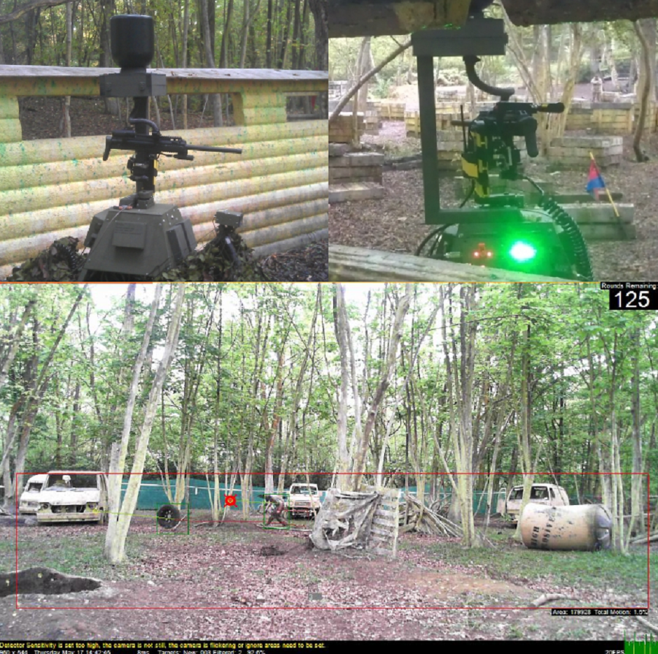 sentry gun turret sentry ptz camera targeting software paintball airsoft